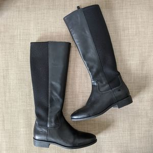 Cole Haan Tilley black genuine leather riding boot